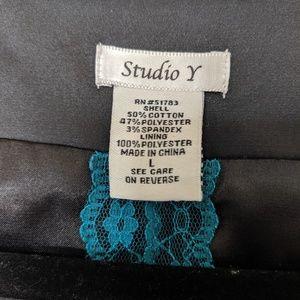 Studio Y Tops - Studio Y Black Sequined Dressy Vest, Sz Large